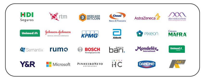 Grandes empresas que apoiam o Distrito For Startups